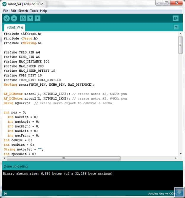 introduction to Arduino - arduino ide window