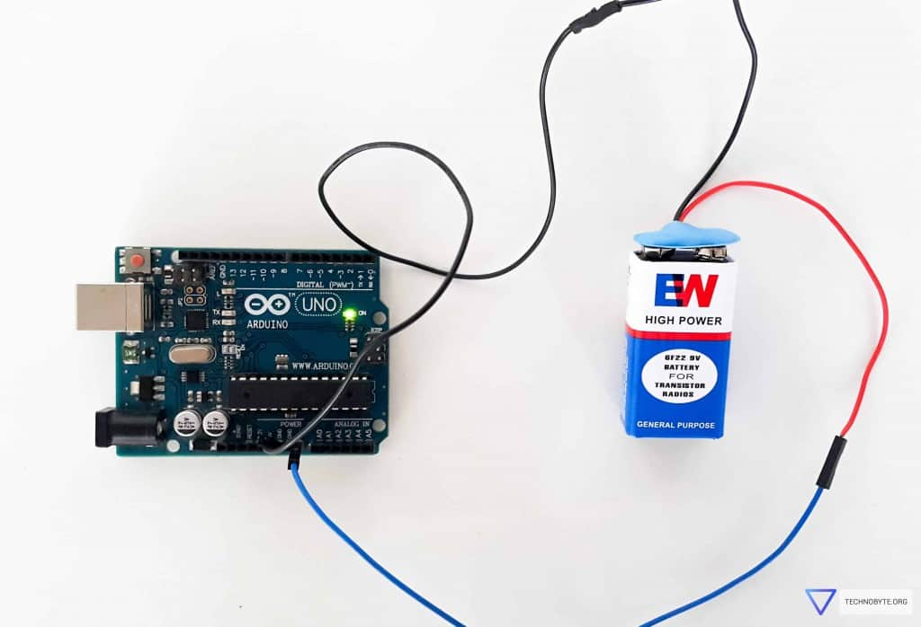 Power up Arduino using 9V battery (unregulated)
