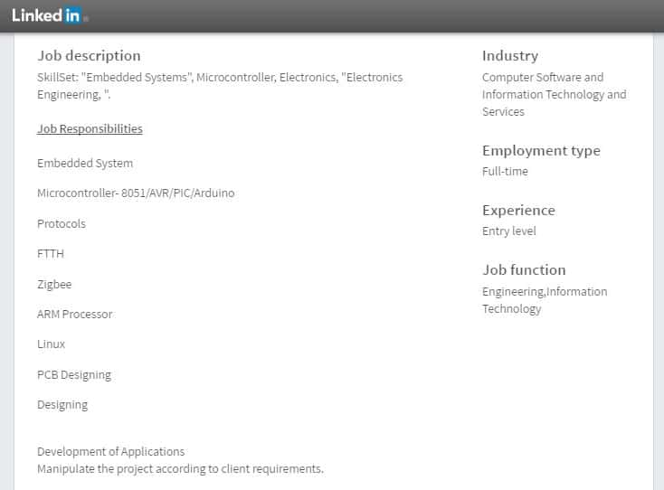 embedded-systems-entry-level-job-requirment