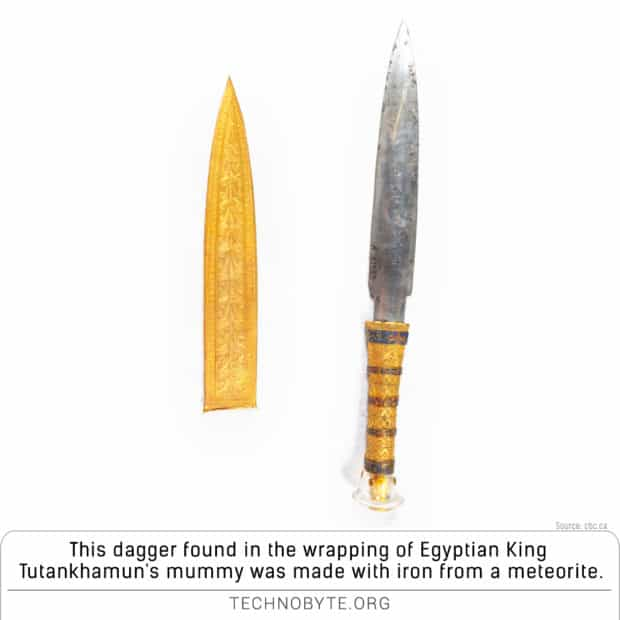 king-tuts-meteorite-dagger made from meteorite interesting archaeology fact