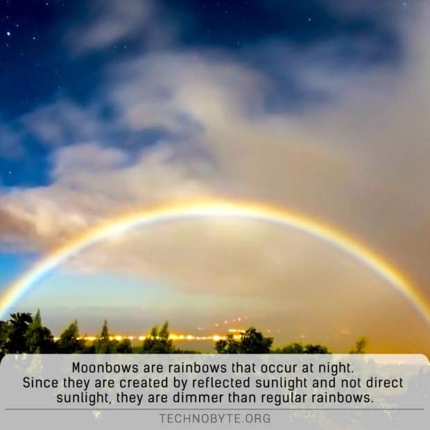 moonbow awesome fact