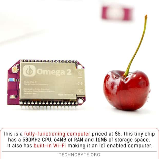 Onion Omega 2 Small and cheap IoT enabled computer