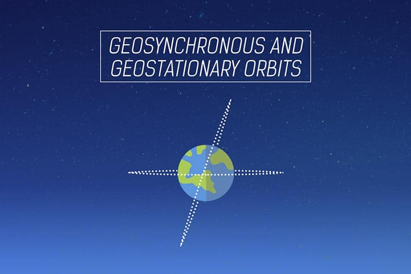 Geosynchronous and Geostationary orbits - Satellite Communication course - Small