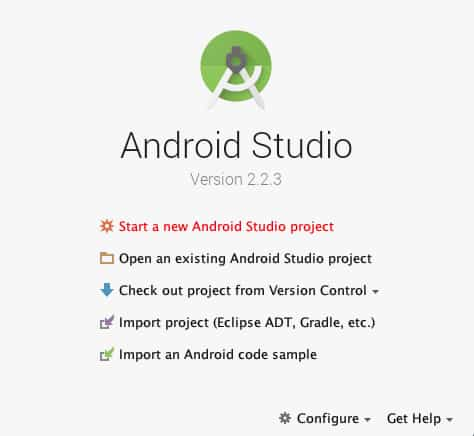 Android Studio Project Configuration - introduction to android studio