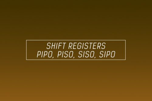 shift registers pipo piso sipo siso