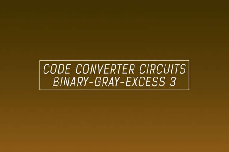 code converter circuits digital binary gray excess 3