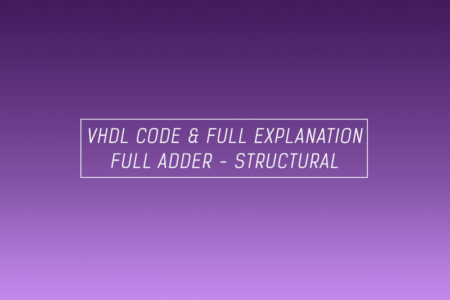 VHDL code for full adder using structural method