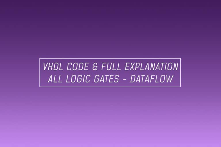 vhdl code for all logic gates using dataflow model