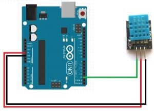 Arduino Uno connection with the DHT 11 sensor (4 pin)