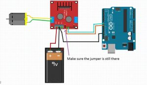 1 Dc motor interfacing using l298N