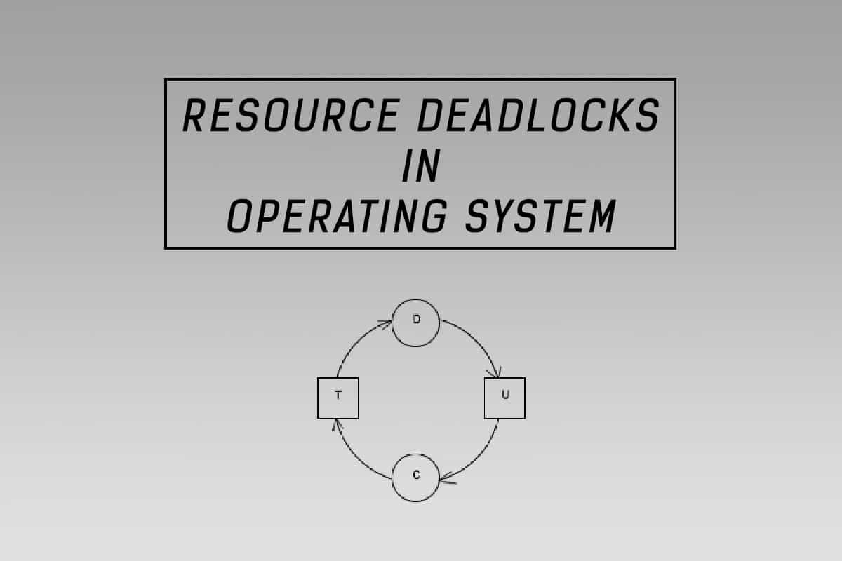 resource deadlocks in OS