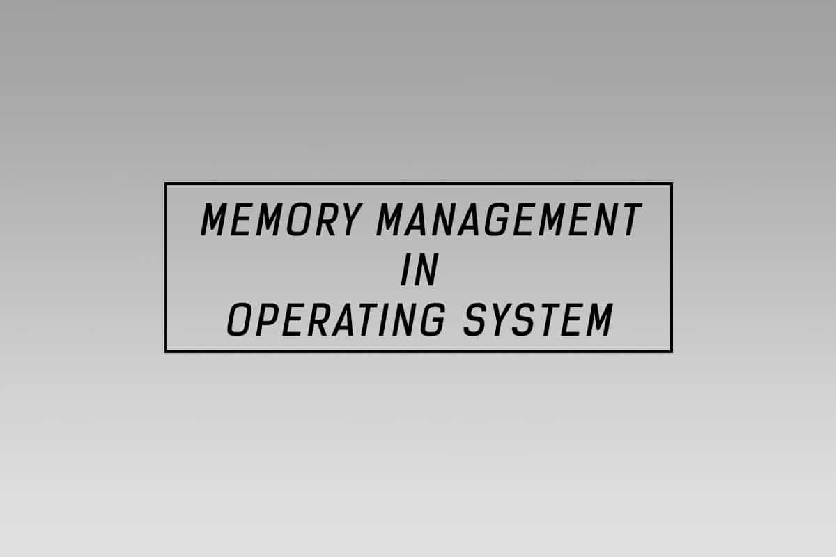memory-management in OS