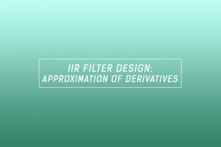 IIR filter design - approximation of derivates method