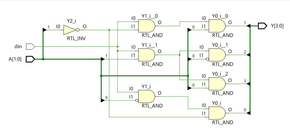 hardware schematic of demultiplexer